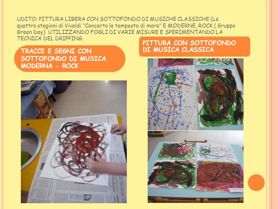 PITTURA CON SOTTOFONDO DI MUSICA CLASSICA