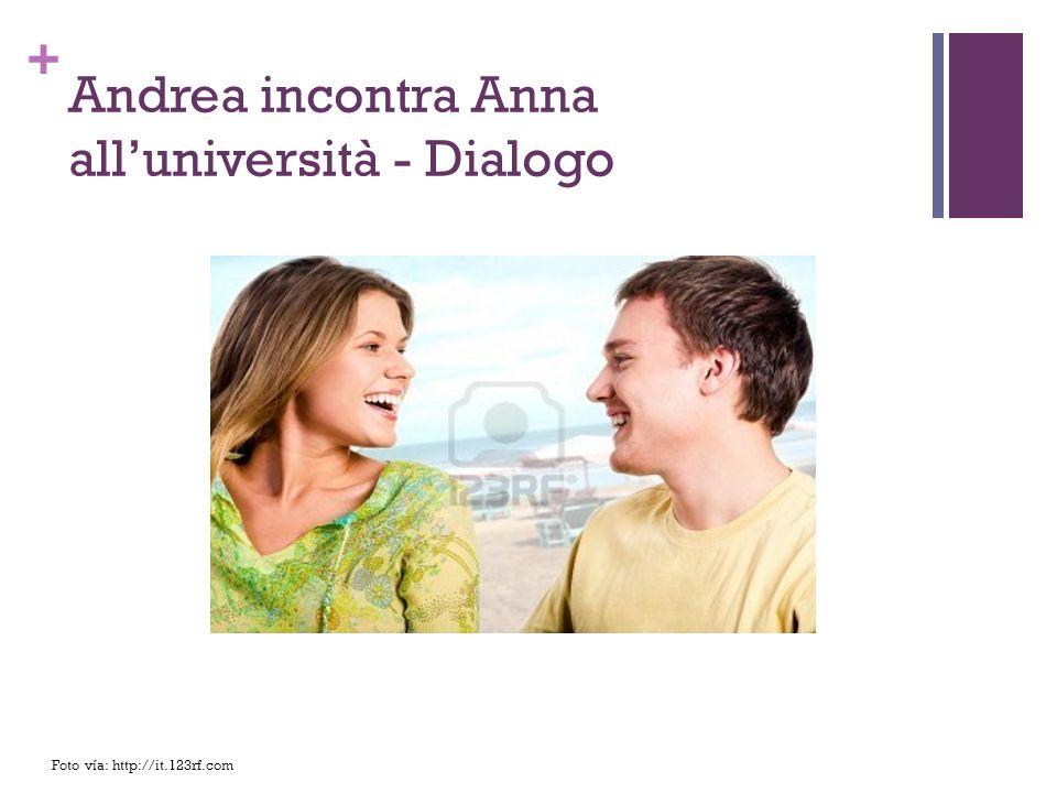 Andrea incontra Anna all'università - Dialogo
