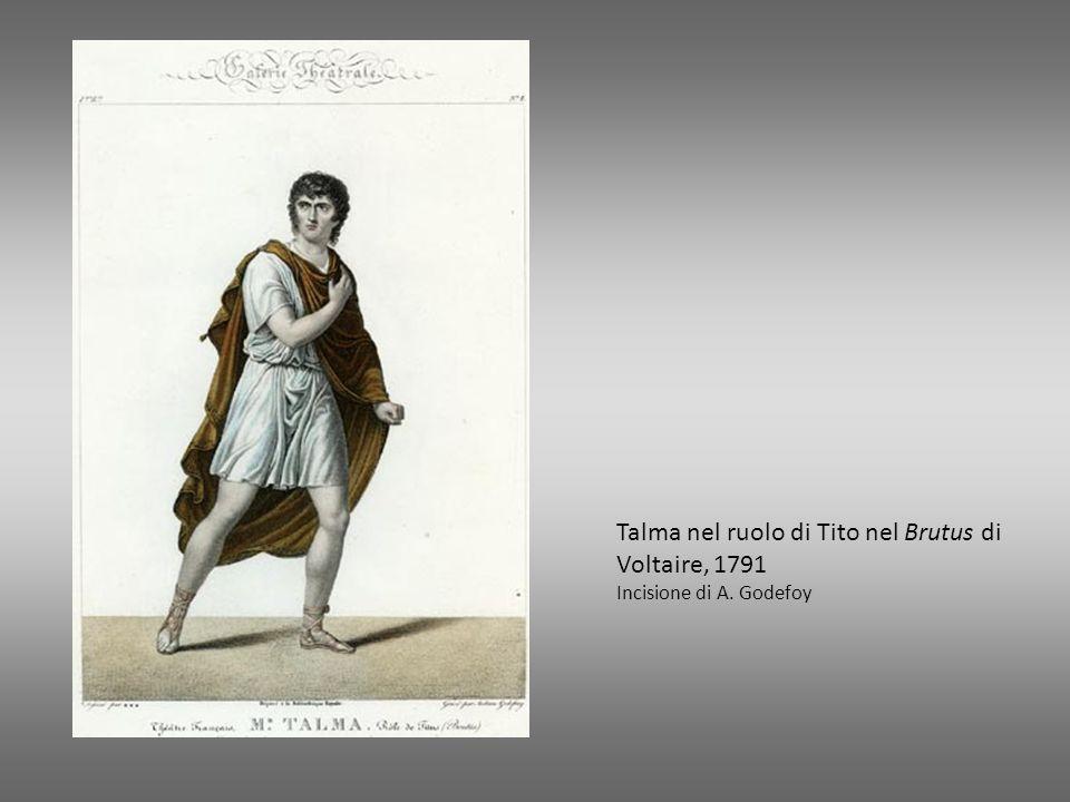 Talma nel ruolo di Tito nel Brutus di Voltaire, 1791