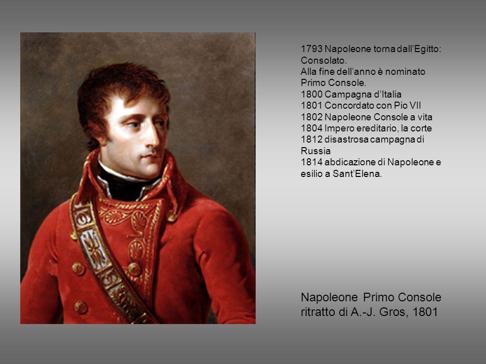 Napoleone Primo Console ritratto di A.-J. Gros, 1801