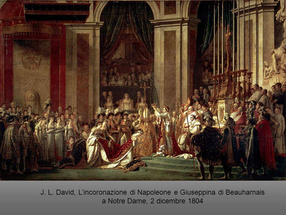 J. L. David, L'incoronazione di Napoleone e Giuseppina di Beauharnais a Notre Dame, 2 dicembre 1804