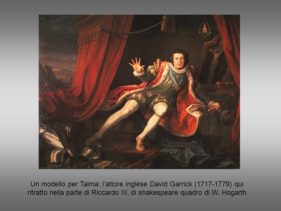 Un modello per Talma: l'attore inglese David Garrick (1717-1779) qui ritratto nella parte di Riccardo III, di shakespeare quadro di W.