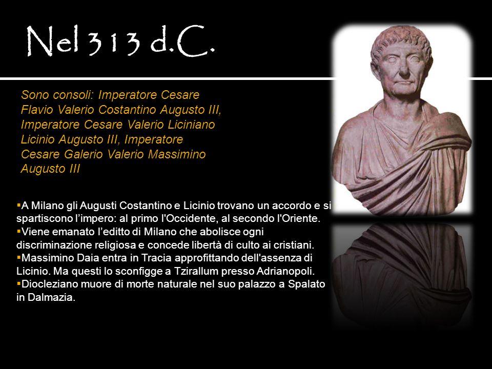 Nel 313 d.C.