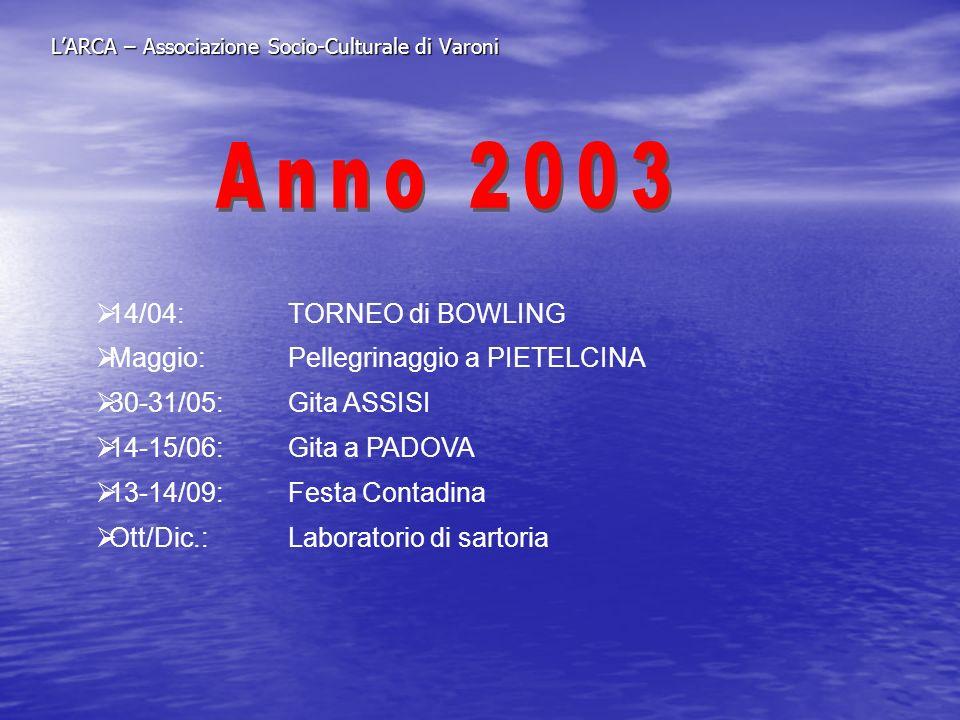 L'ARCA – Associazione Socio-Culturale di Varoni