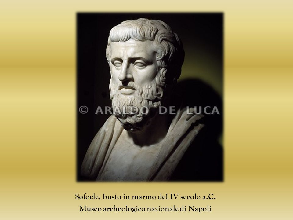 Sofocle, busto in marmo del IV secolo a.C.
