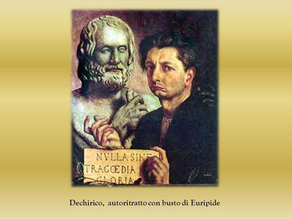 Dechirico, autoritratto con busto di Euripide