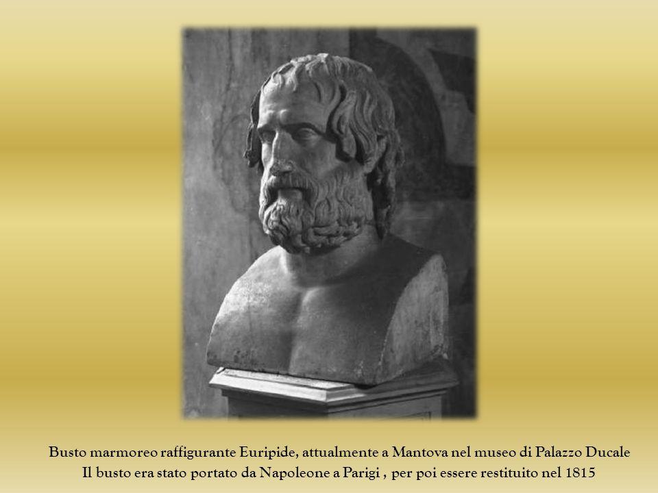 Busto marmoreo raffigurante Euripide, attualmente a Mantova nel museo di Palazzo Ducale