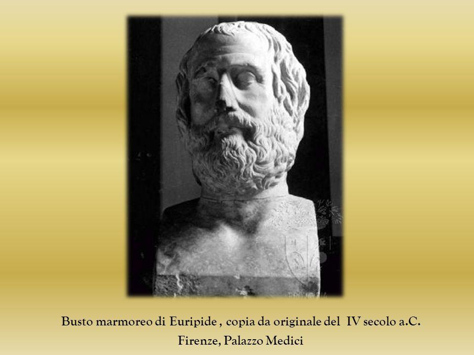 Busto marmoreo di Euripide , copia da originale del IV secolo a.C.