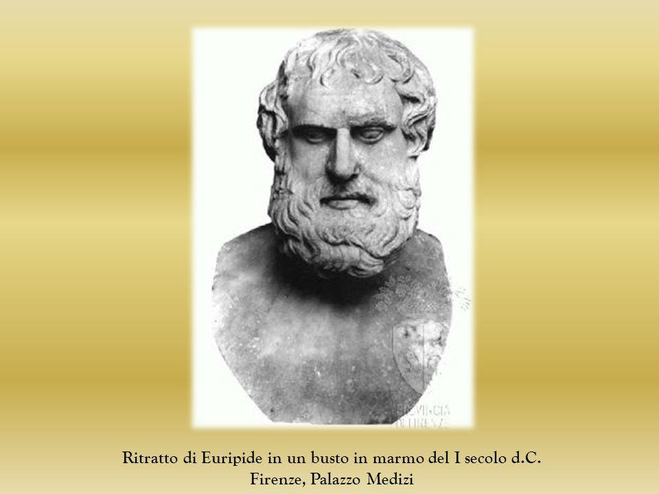 Ritratto di Euripide in un busto in marmo del I secolo d.C.