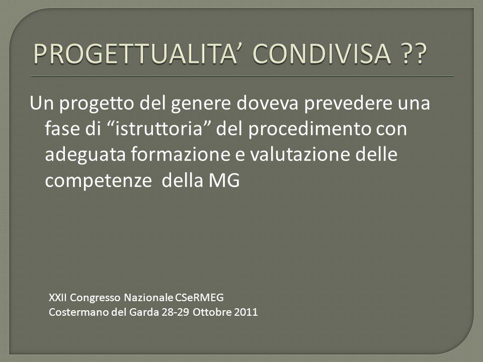 PROGETTUALITA' CONDIVISA