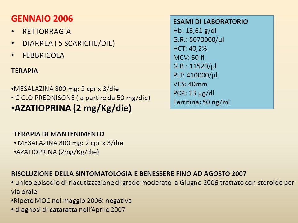 AZATIOPRINA (2 mg/Kg/die)