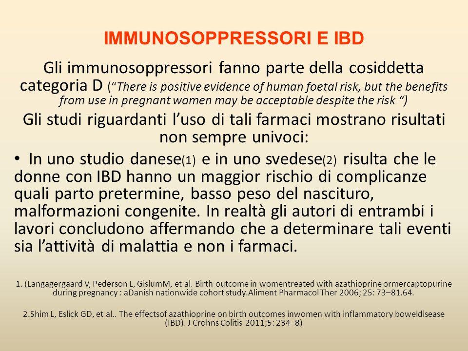 IMMUNOSOPPRESSORI E IBD