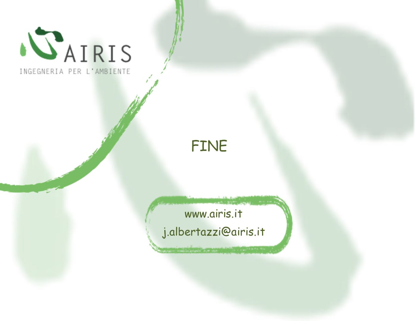 FINE www.airis.it j.albertazzi@airis.it