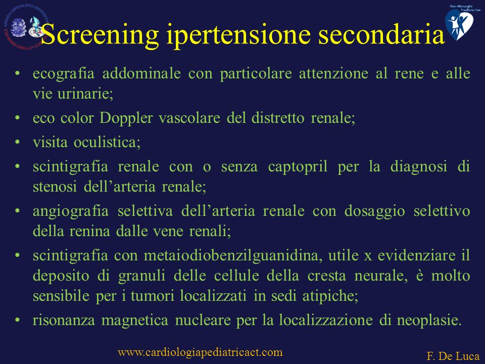 Screening ipertensione secondaria