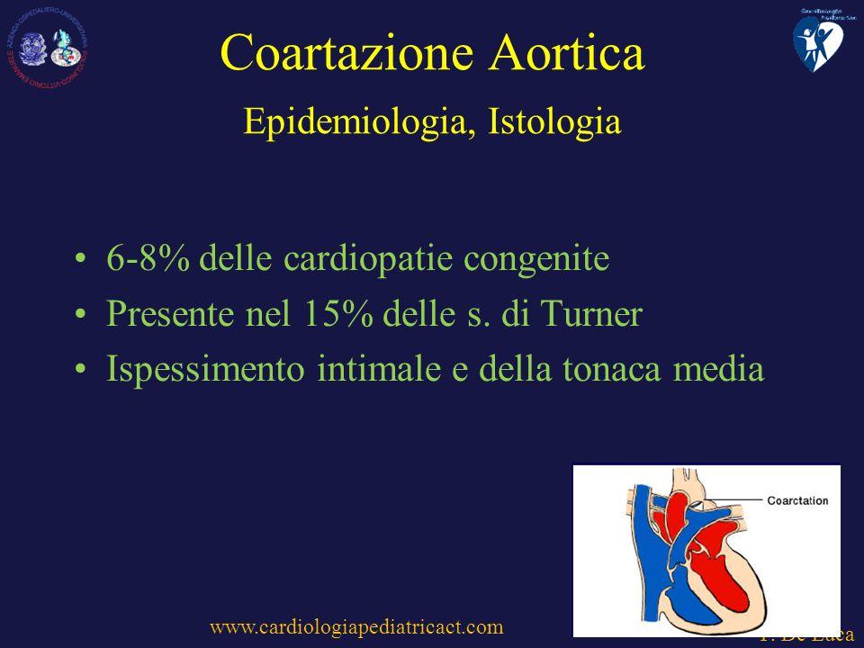Coartazione Aortica Epidemiologia, Istologia