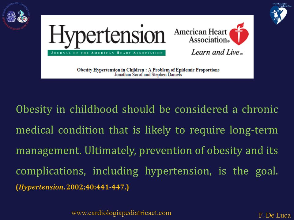 Obesity in childhood should be considered a chronic medical condition that is likely to require long-term management.