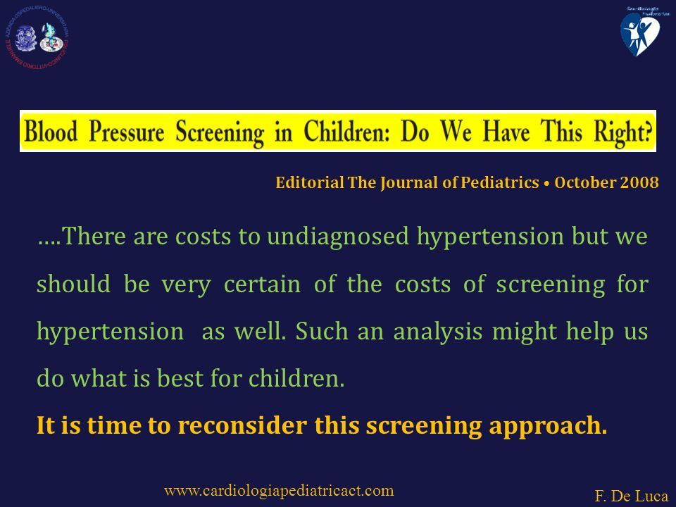 ….There are costs to undiagnosed hypertension but we