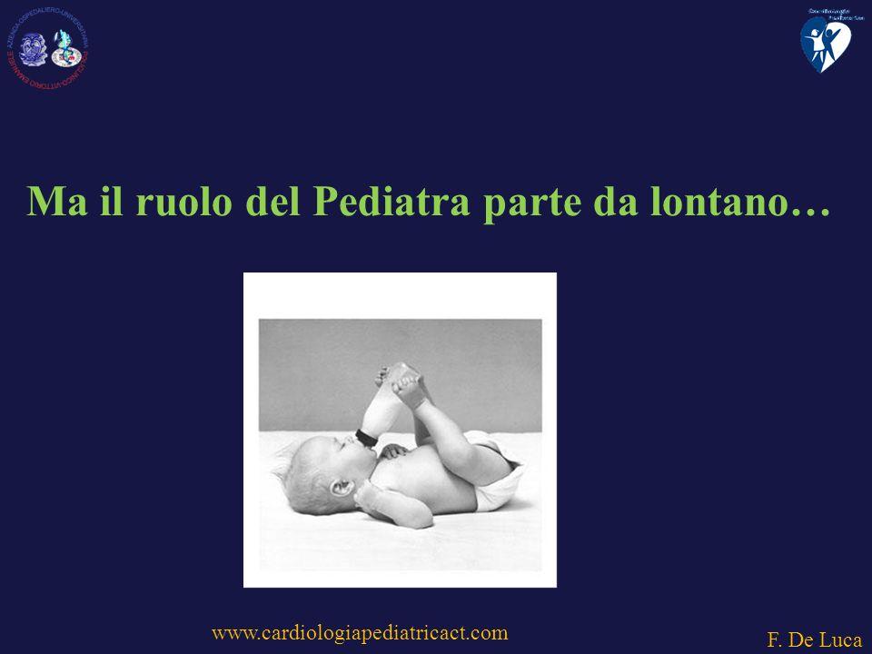 Ma il ruolo del Pediatra parte da lontano…