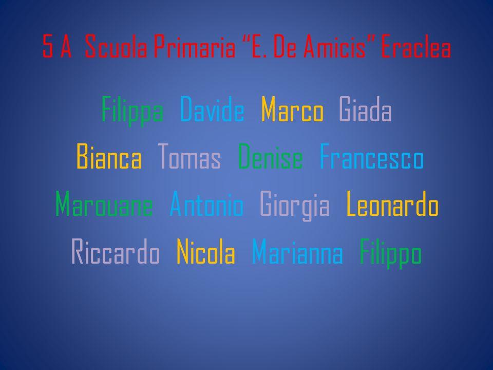 5 A Scuola Primaria E. De Amicis Eraclea