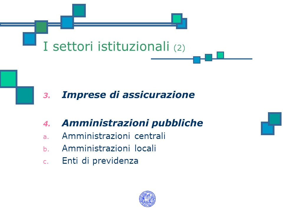 I settori istituzionali (2)