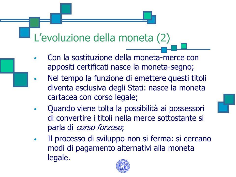L'evoluzione della moneta (2)