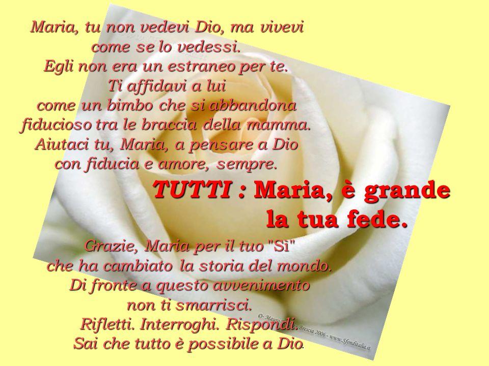 TUTTI : Maria, è grande la tua fede.
