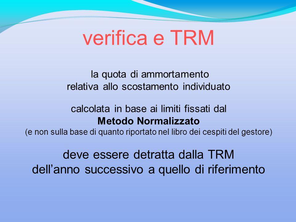 verifica e TRM deve essere detratta dalla TRM