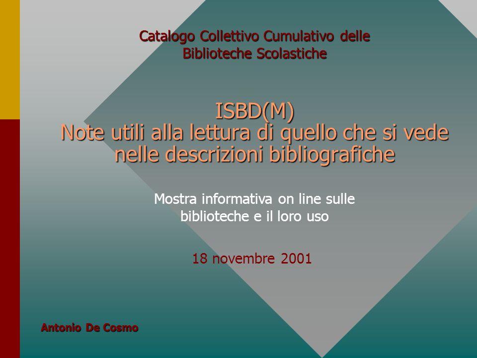 Catalogo Collettivo Cumulativo delle Biblioteche Scolastiche