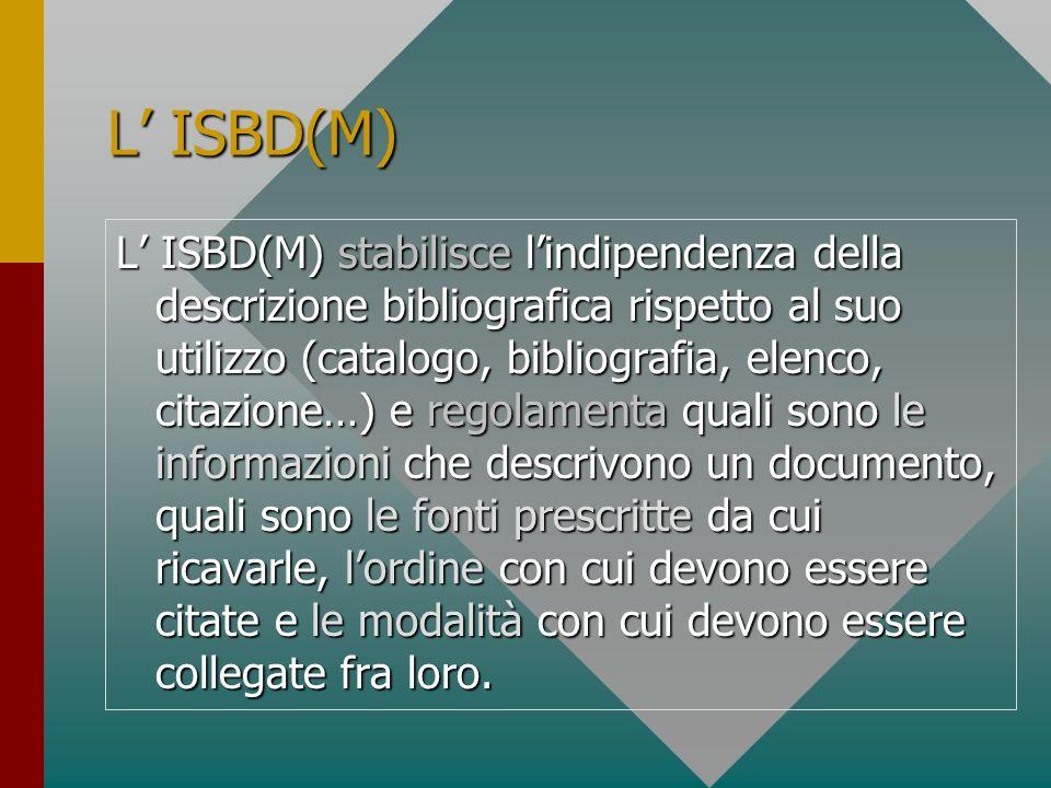 L' ISBD(M)
