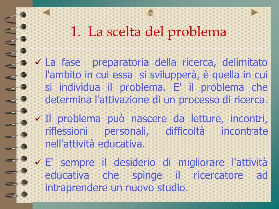 1. La scelta del problema