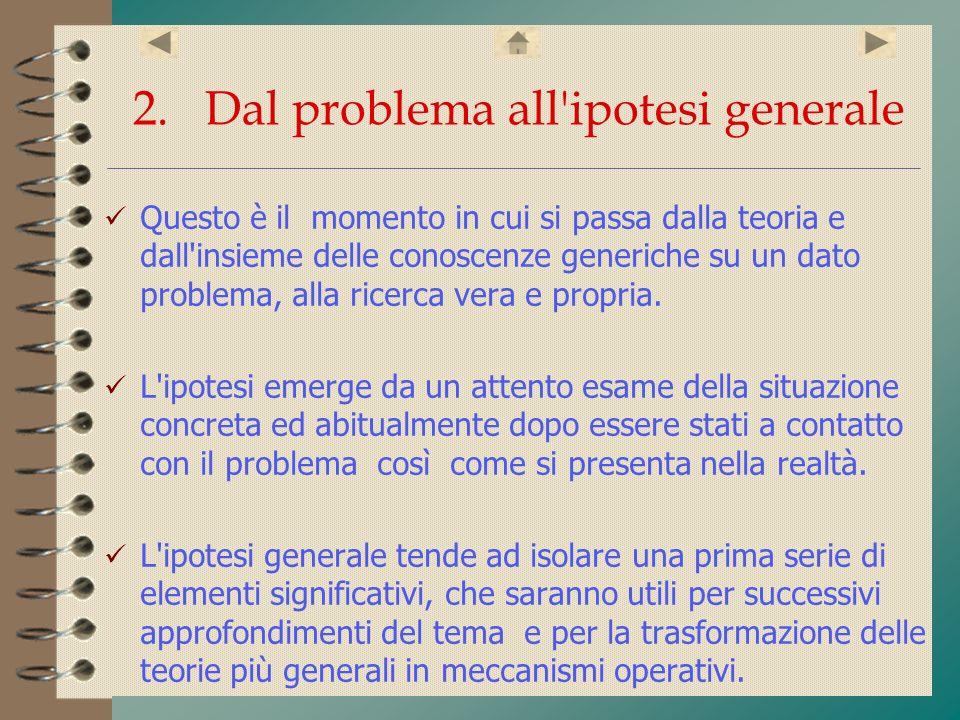 2. Dal problema all ipotesi generale