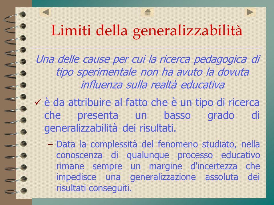 Limiti della generalizzabilità
