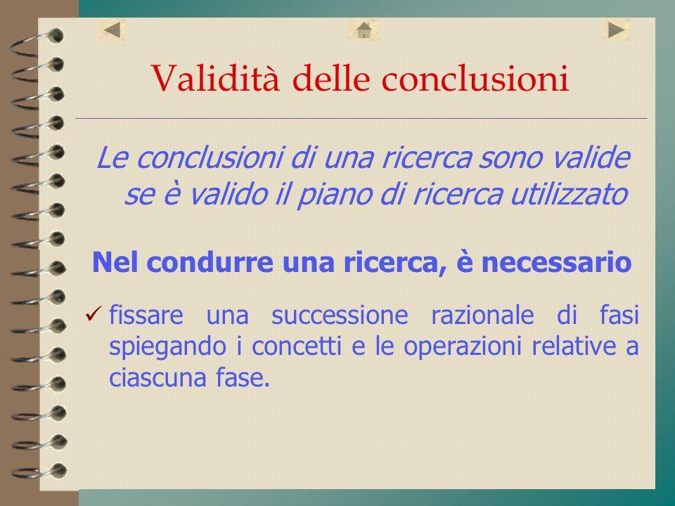 Validità delle conclusioni