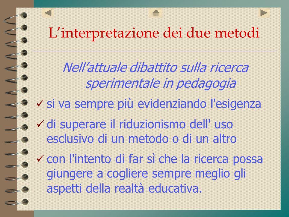 L'interpretazione dei due metodi