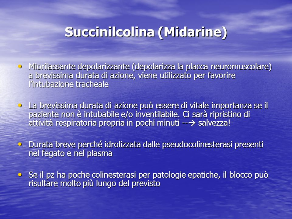 Succinilcolina (Midarine)