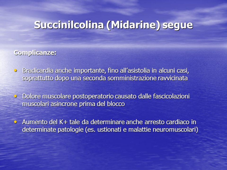 Succinilcolina (Midarine) segue