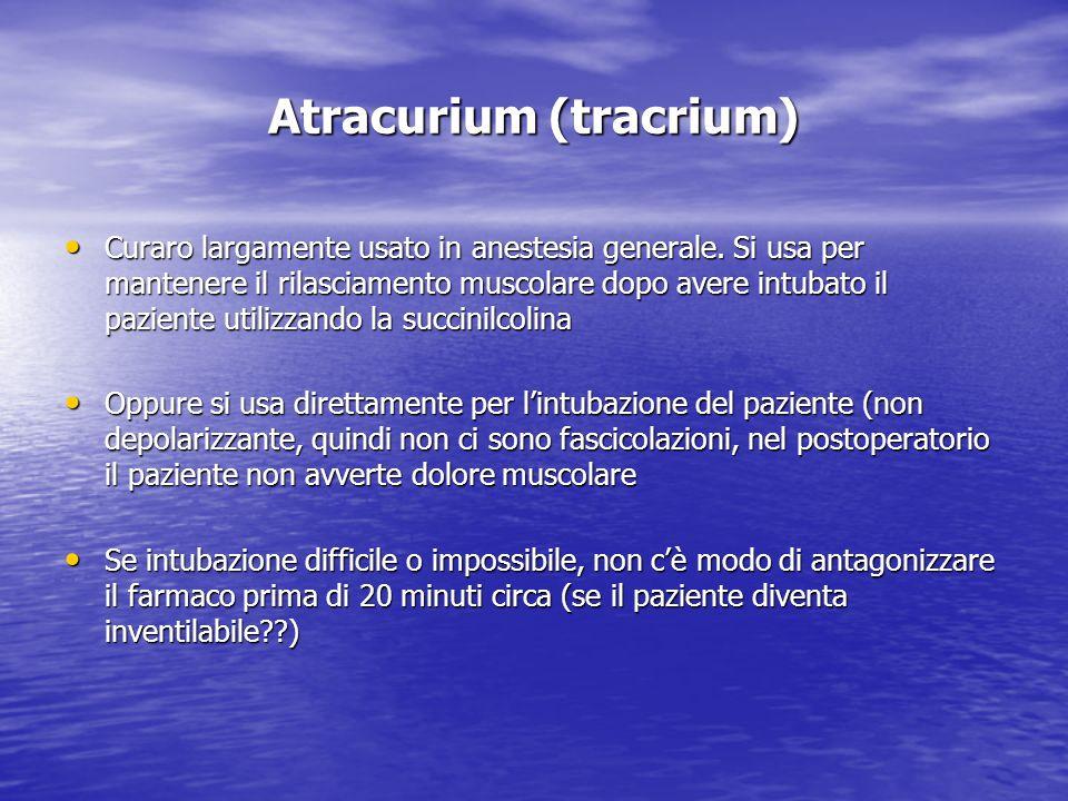 Atracurium (tracrium)