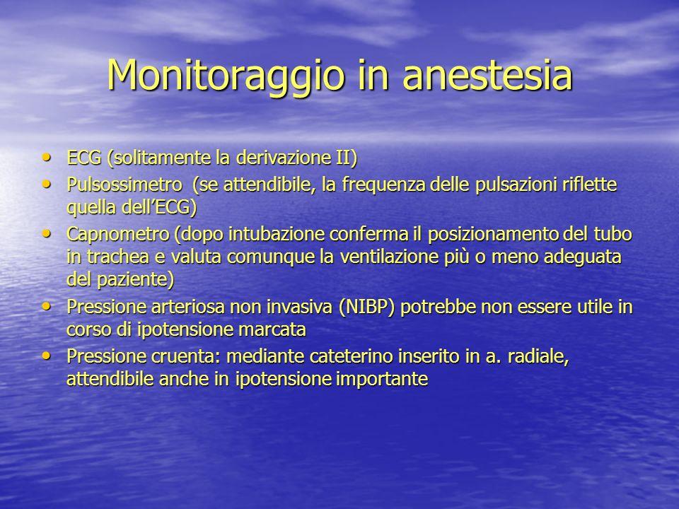 Monitoraggio in anestesia