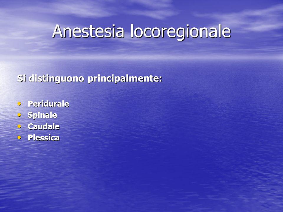 Anestesia locoregionale
