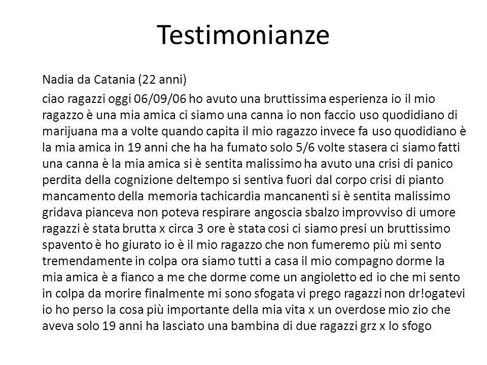 Testimonianze