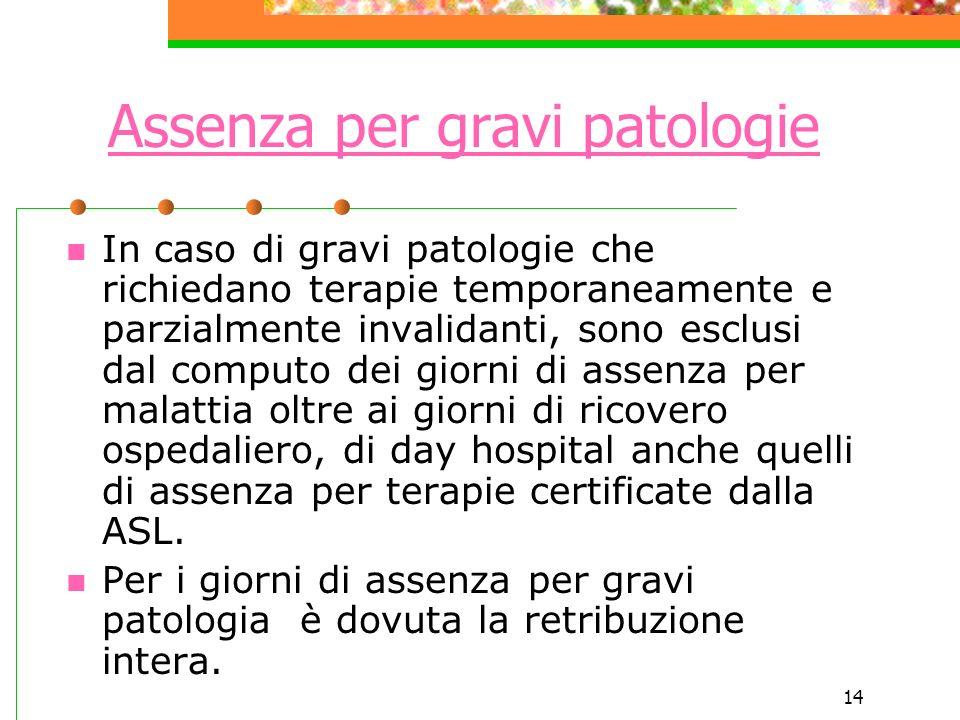 Assenza per gravi patologie