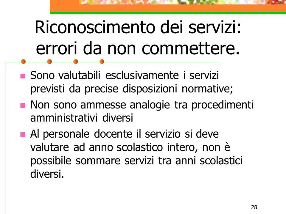 Riconoscimento dei servizi: errori da non commettere.