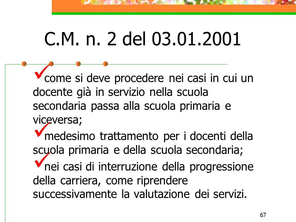 C.M. n. 2 del 03.01.2001