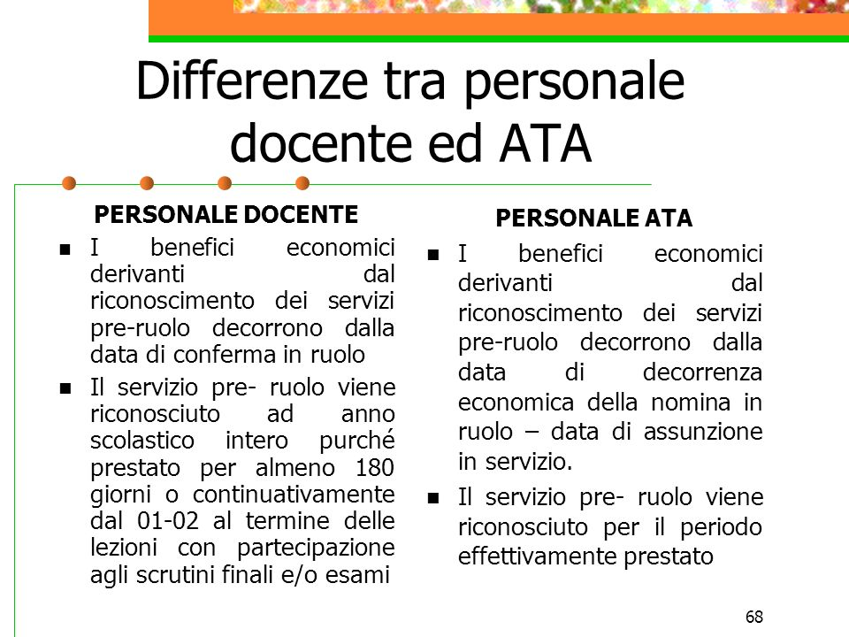 Differenze tra personale docente ed ATA