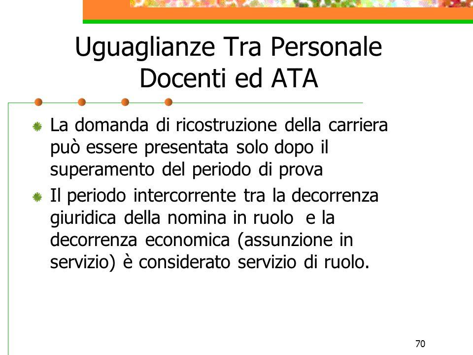 Uguaglianze Tra Personale Docenti ed ATA