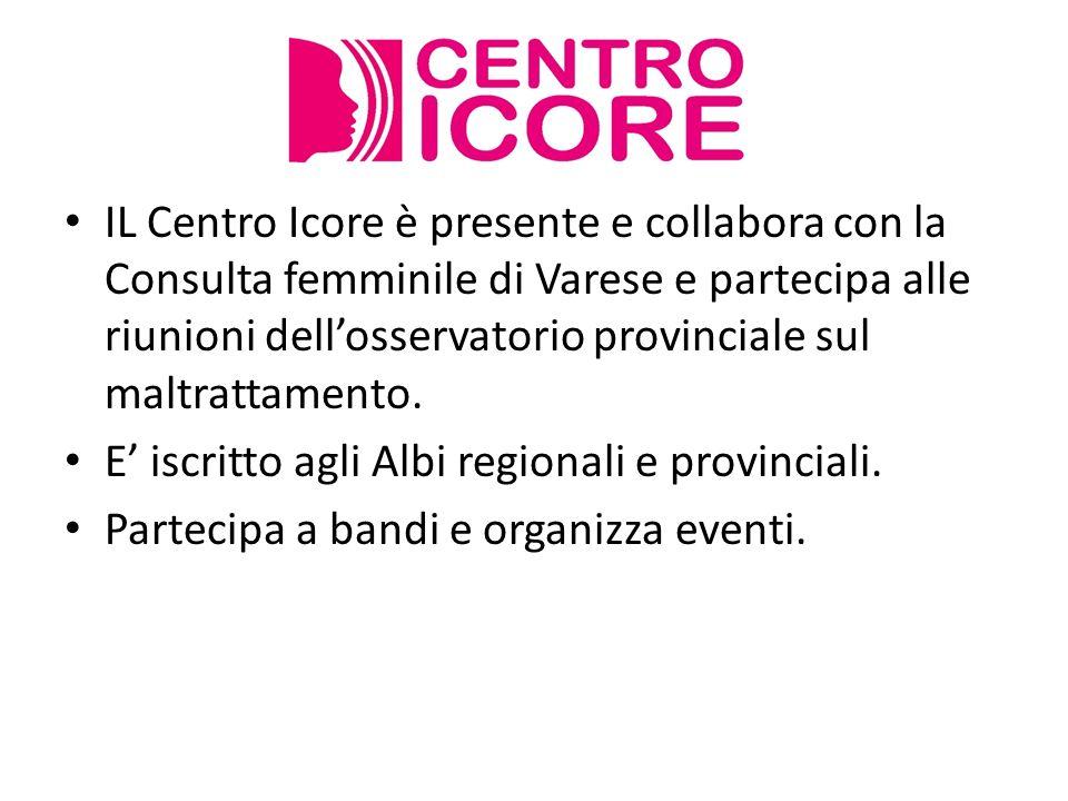 IL Centro Icore è presente e collabora con la Consulta femminile di Varese e partecipa alle riunioni dell'osservatorio provinciale sul maltrattamento.