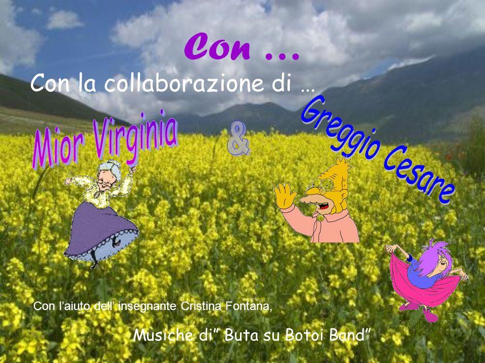 Con … Con la collaborazione di … Mior Virginia Greggio Cesare &