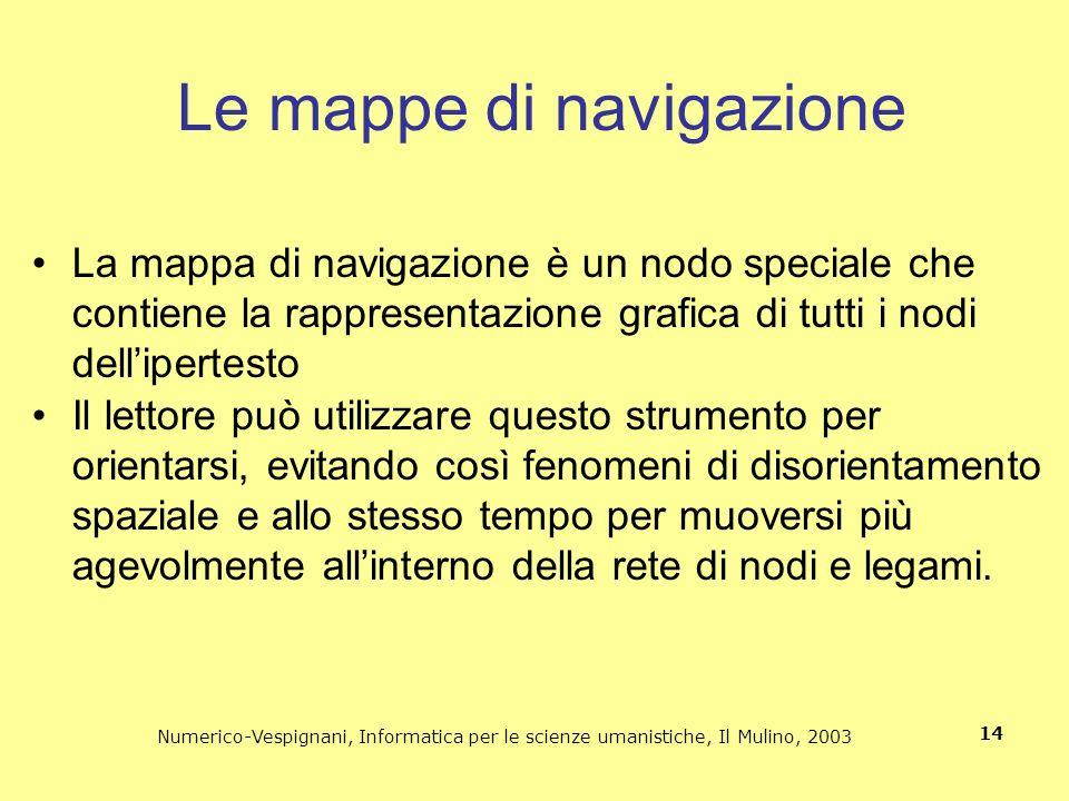 Le mappe di navigazione