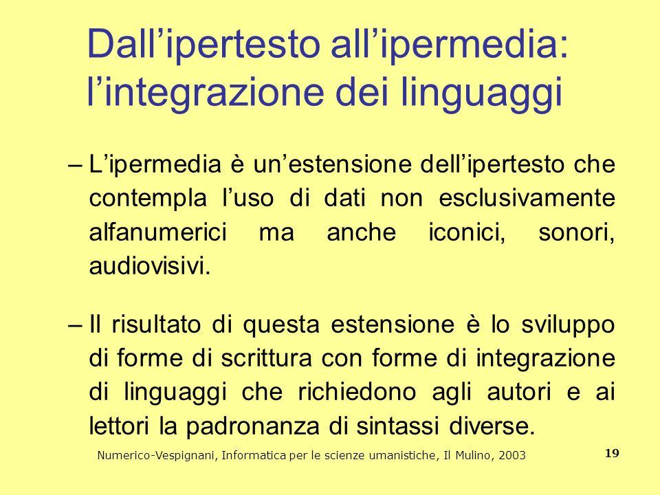 Dall'ipertesto all'ipermedia: l'integrazione dei linguaggi