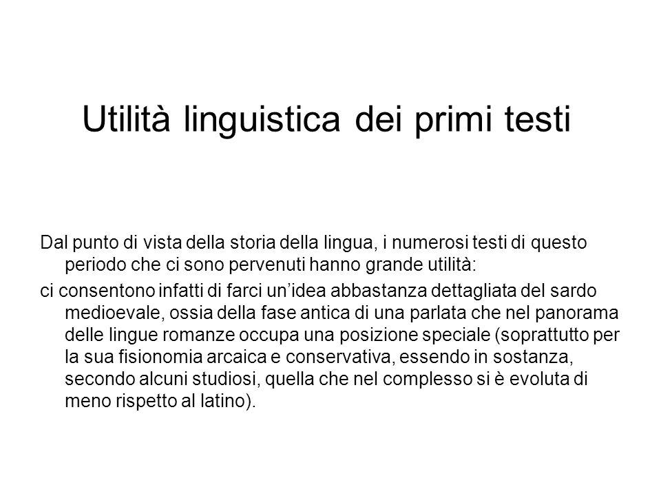 Utilità linguistica dei primi testi
